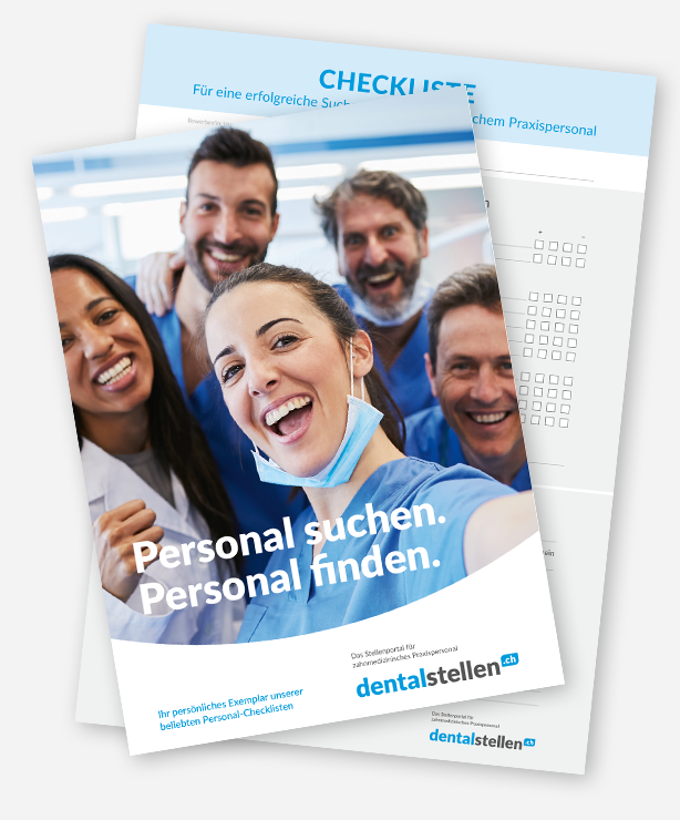 Personal Management Checklisten von dentalstellen.ch